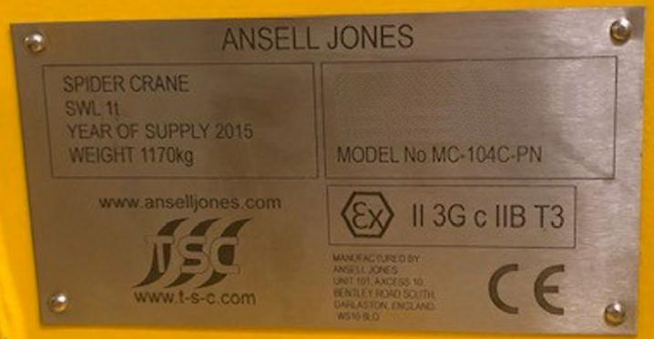 TSC Ansell Jones LTD. MC-140C-PN Spinnenkran